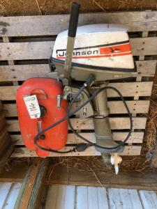 Johnson Sea Horse 4hp outboard motor with gas tank