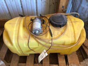 Yard Sprayer Tank with pump and wand