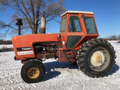 Allis-Chalmers 7060 Tractor, shows 6671 hours