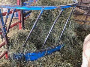 Frey Brothers Half Round bale feeder, used for fence line feeder