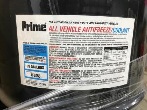 55 Gallons - All Vehicle Antifreeze/Coolant