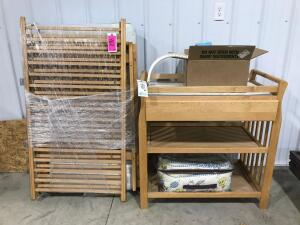 Crib and Changing Table with Accessories