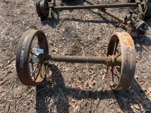 Axle with Steel Wheels