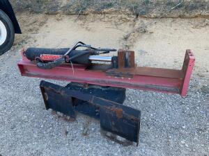 Log splitter for skid steer