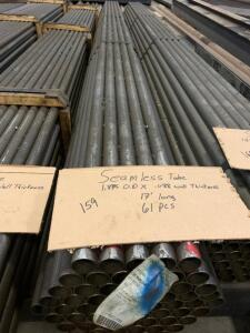 Seamless Tube 1.875 x .088 wall thickness 17ft long 61 sticks