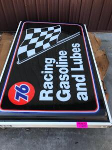 New 76 Racing Gas & Lube Sign