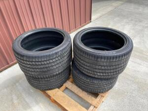 (2) Goodyear Eagle F1 P275/35ZR18 (87Y) Front Tires and (2) Goodyear Eagle F1 P325/30ZR18 Rear Tires