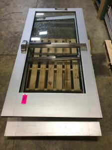 Two Commercial Aluminum/Glass Entry Doors
