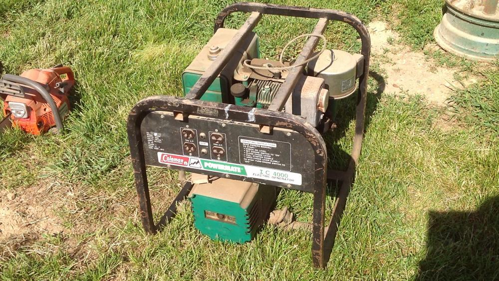 Coleman/Powermate electric generator l/c 4,000, s/n 26512
