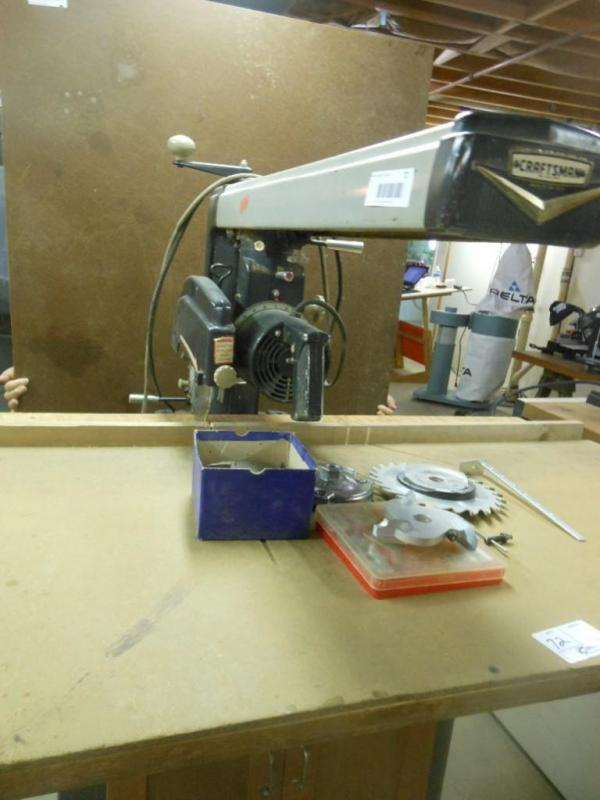 Lot 72 Of 206: Craftsman Radial Arm Saw, Model 103.29310, With Table And  Accessories