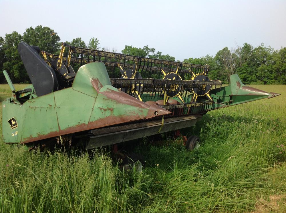 john deere 216 flex grain head 13 ft with case header cart rh bid sheridanauctionservice com John Deere 216 Craigslist Troubleshooting John Deere 216