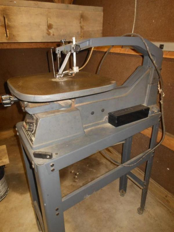 Lot 15 Of 85 Sears 20 Variable Speed Scroll Saw On Stand Model 113236400