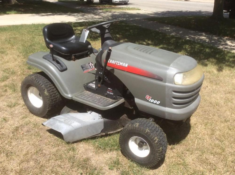 Craftsman Lt1000 Riding Mower >> Craftsman Lt1000 Riding Lawn Mower