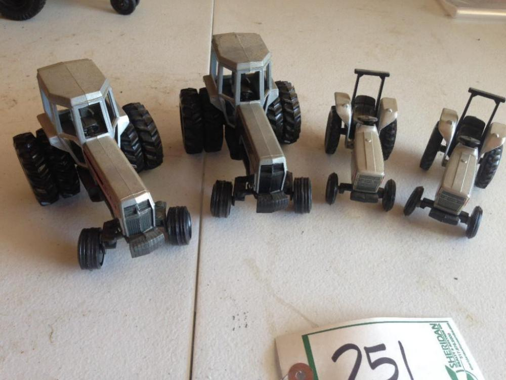 Toy Tractors For Sale >> 4 White Toy Tractors