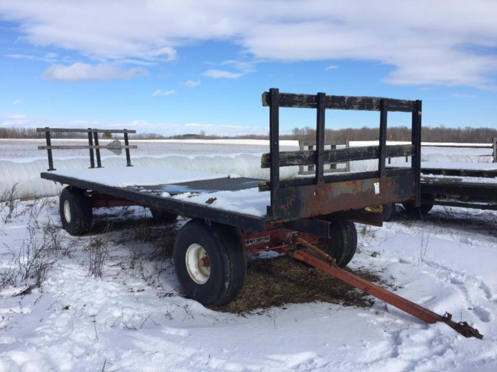 Flatbed Wagon on 12 ton Running Gear