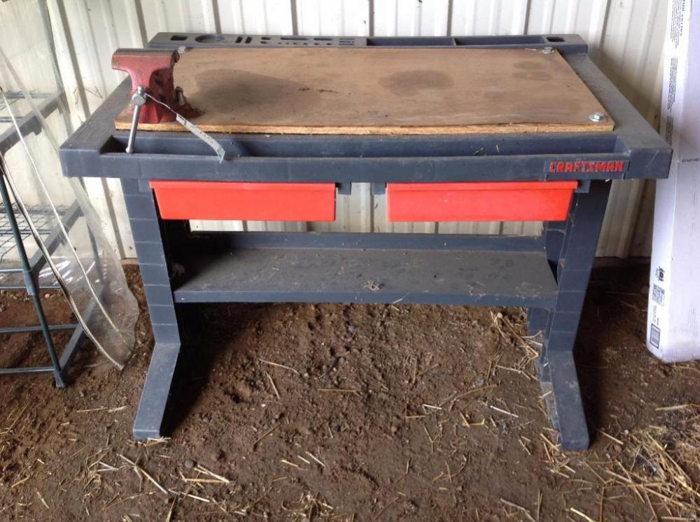 Lot 210 Of 115: Craftsman Work Bench With Vise