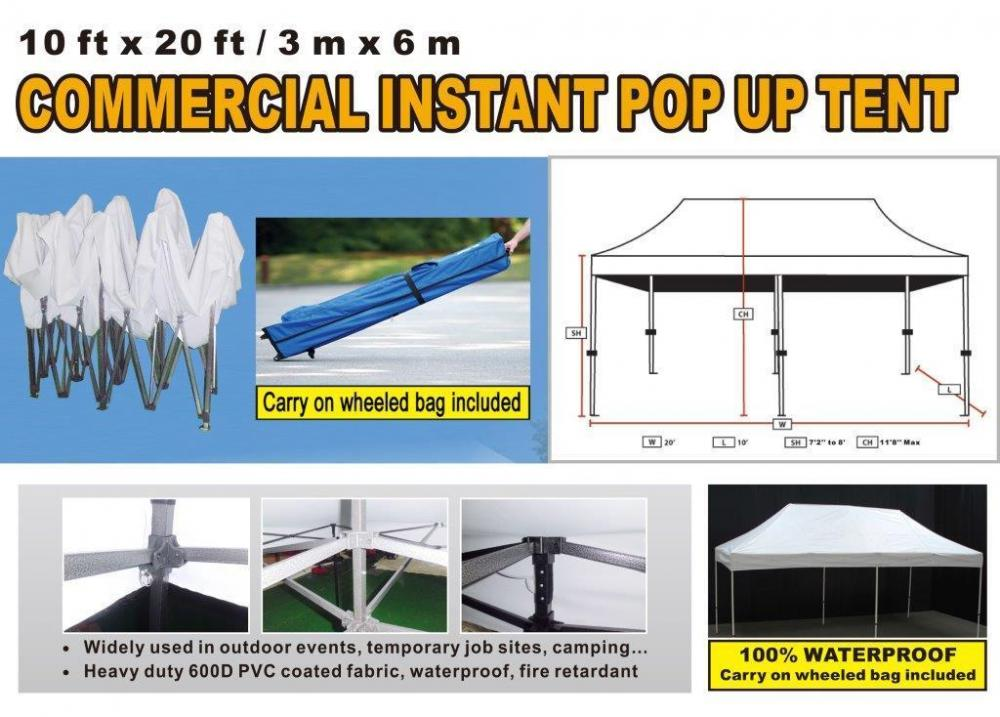 Lot 5148 of 568 NEW Commercial Instant Pop Up Tent 10u0027 x 20u0027  sc 1 st  Auctions - Sheridan Realty u0026 Auction Co. & NEW Commercial Instant Pop Up Tent 10u0027 x 20u0027
