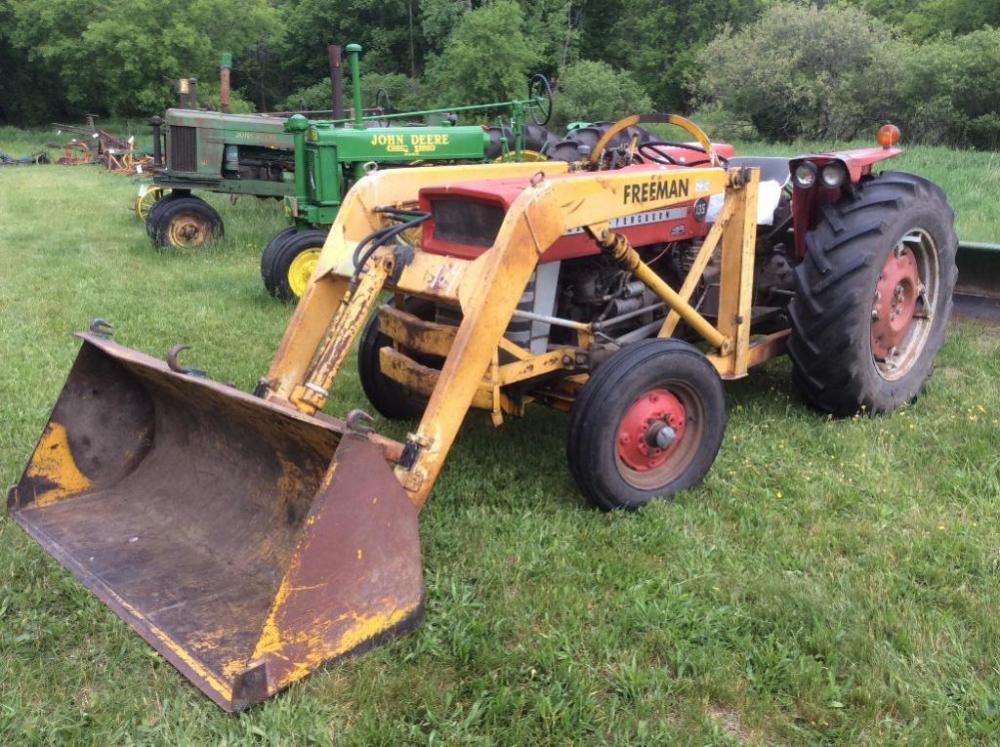 Massey Ferguson 135 With Loader : Massey ferguson gas loader tractor