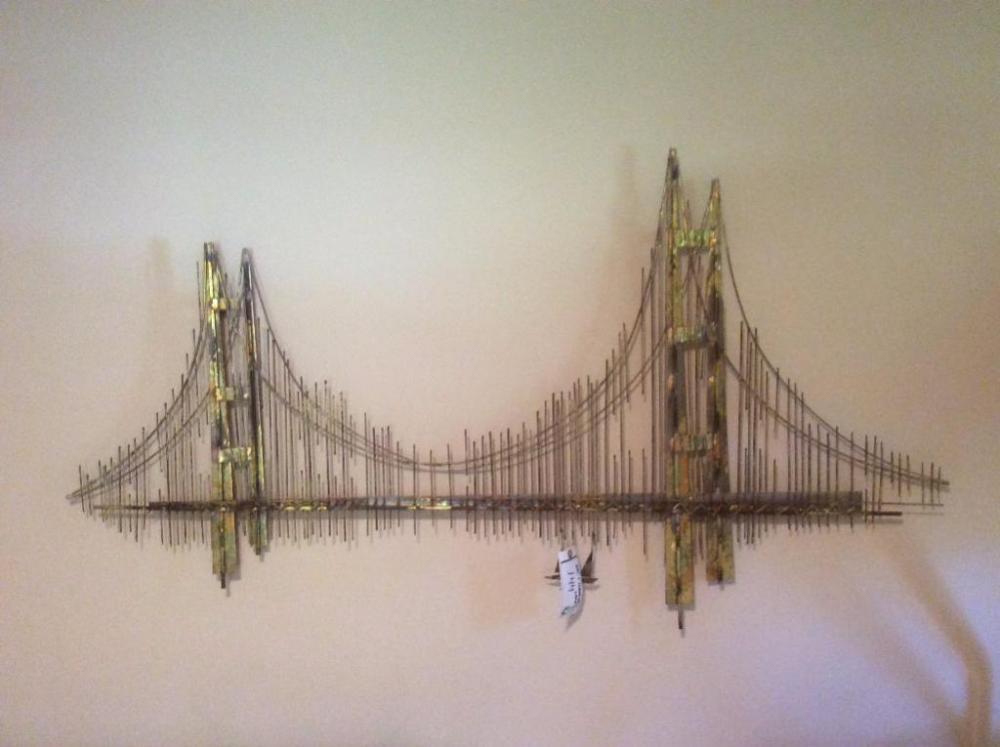 Lot 144 Of 190 Metal Bridge Wall Art Hanging Lamp