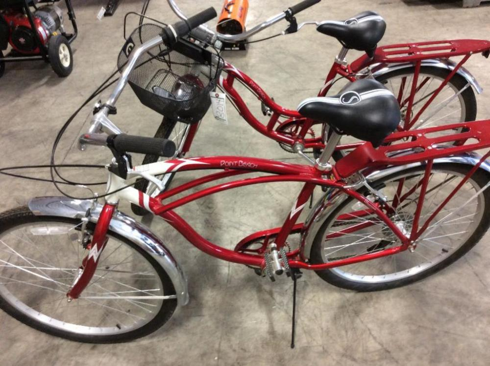 b975adbe61c Lot 8014 of 331: (2) Schwinn Point Beach Cruiser Bikes