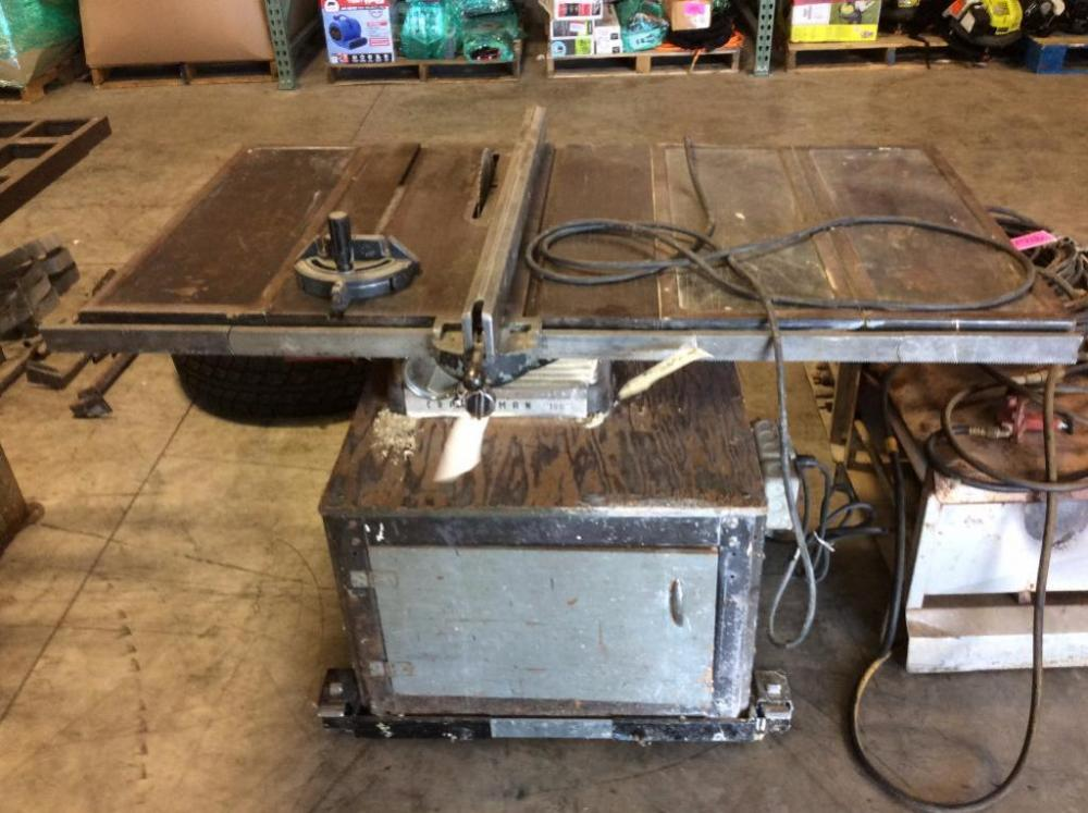 Lot 9163 Of 253 Craftsman 100 Table Saw W Stand