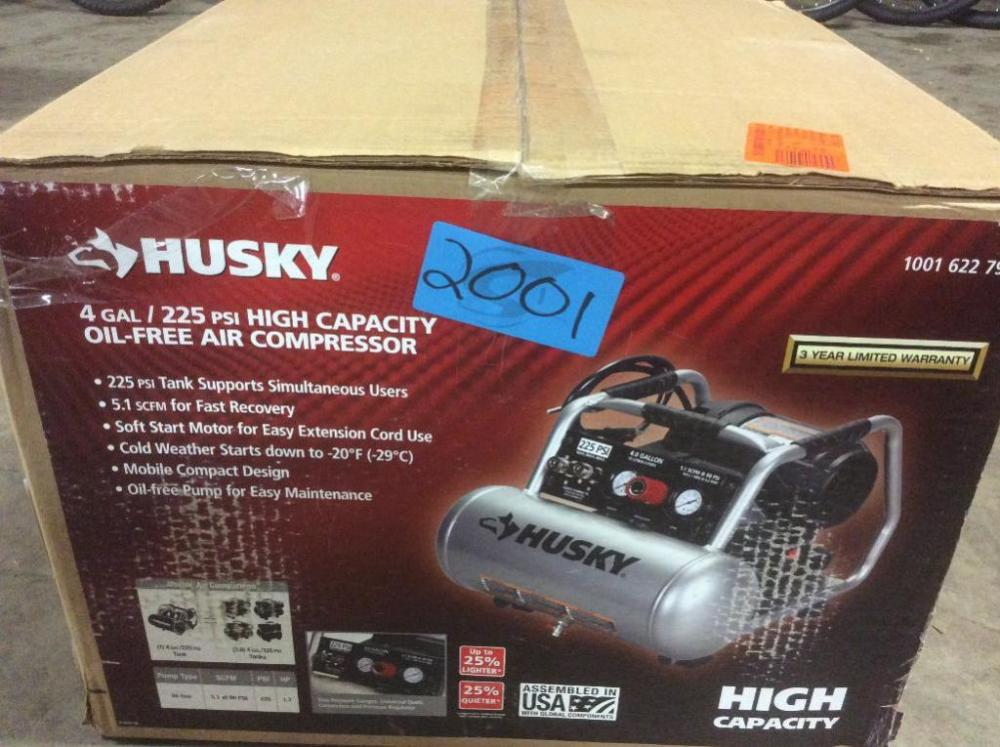 Husky 4 Gallon High Capacity Air Compressor