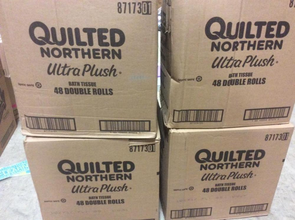 4 Boxes Of Quilted Northern Ultra Plush Bath Tissue