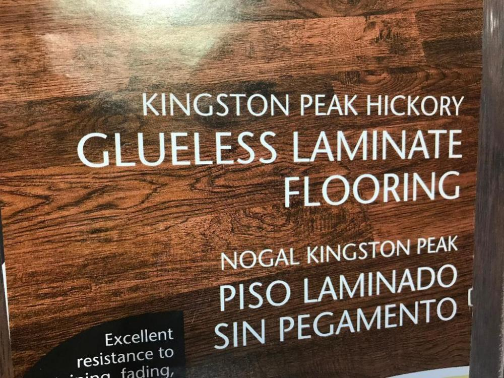 230 Sq Ft Of Kingston Peak Hickory Glueless Laminate Flooring