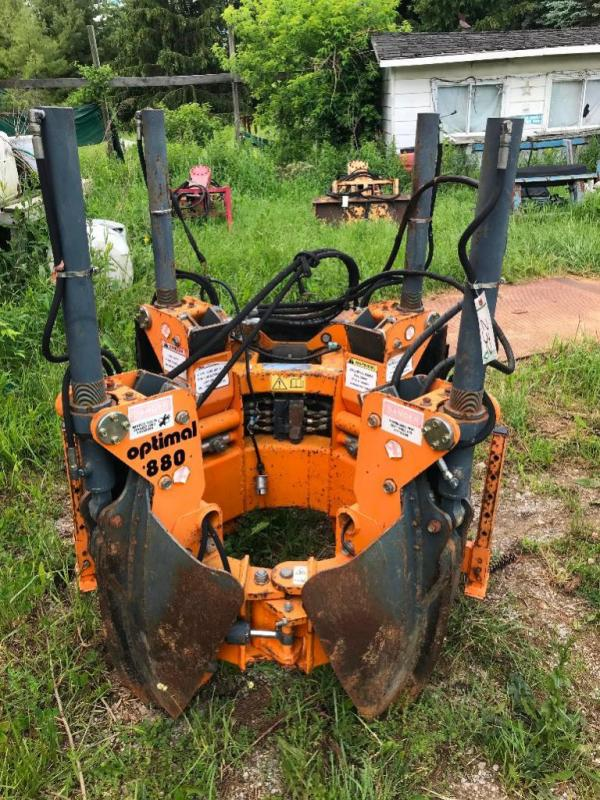 Optimal 880 Tree Spade Skid Steer Attachment