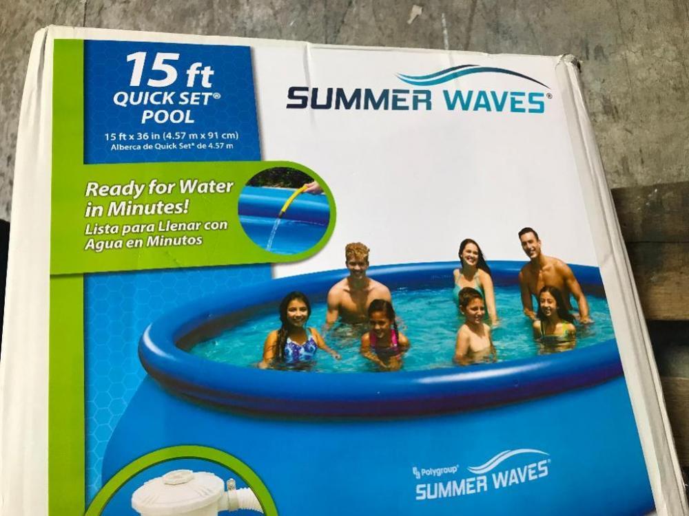 Summer Waves 15' Quick Set Pool Includes Filter & Pump