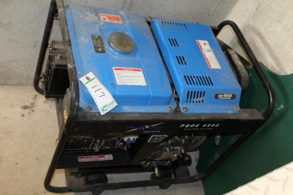 Lot 117 Of 297 Powr Quip 6500 Watt Sel Generator Never Used