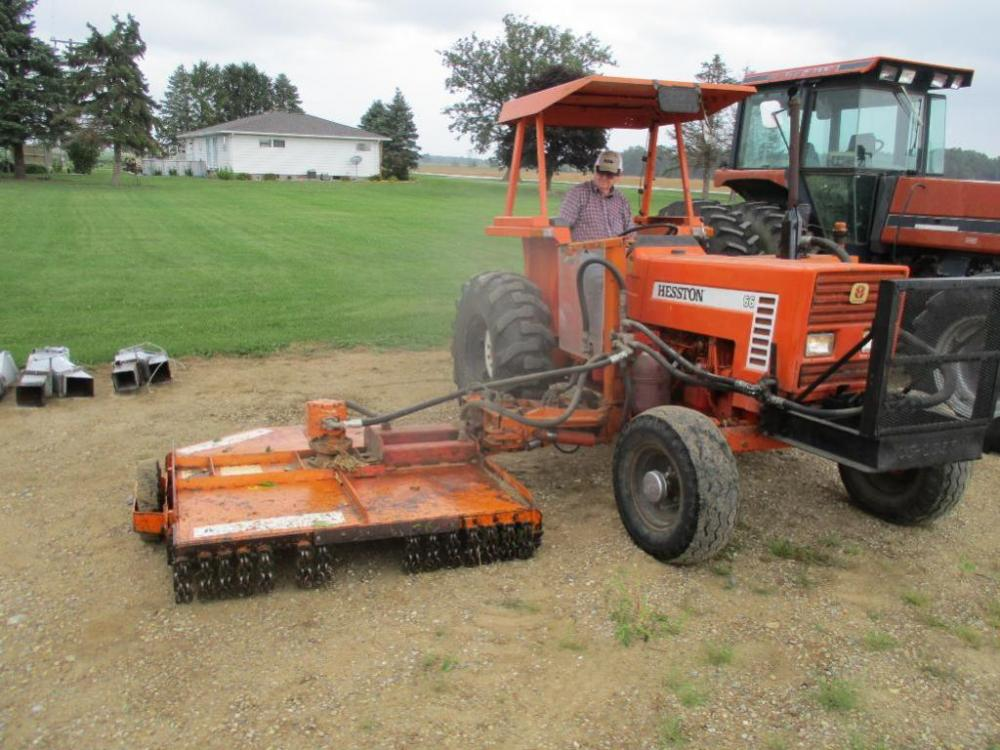 1985 Hesston 66 Tractor with Terra King Ditch Mower