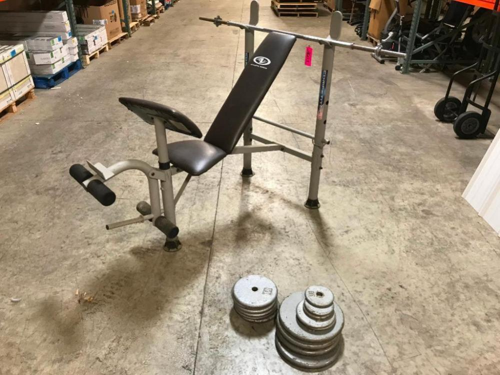 Terrific Athletic Works Weight Bench W Weights Alphanode Cool Chair Designs And Ideas Alphanodeonline
