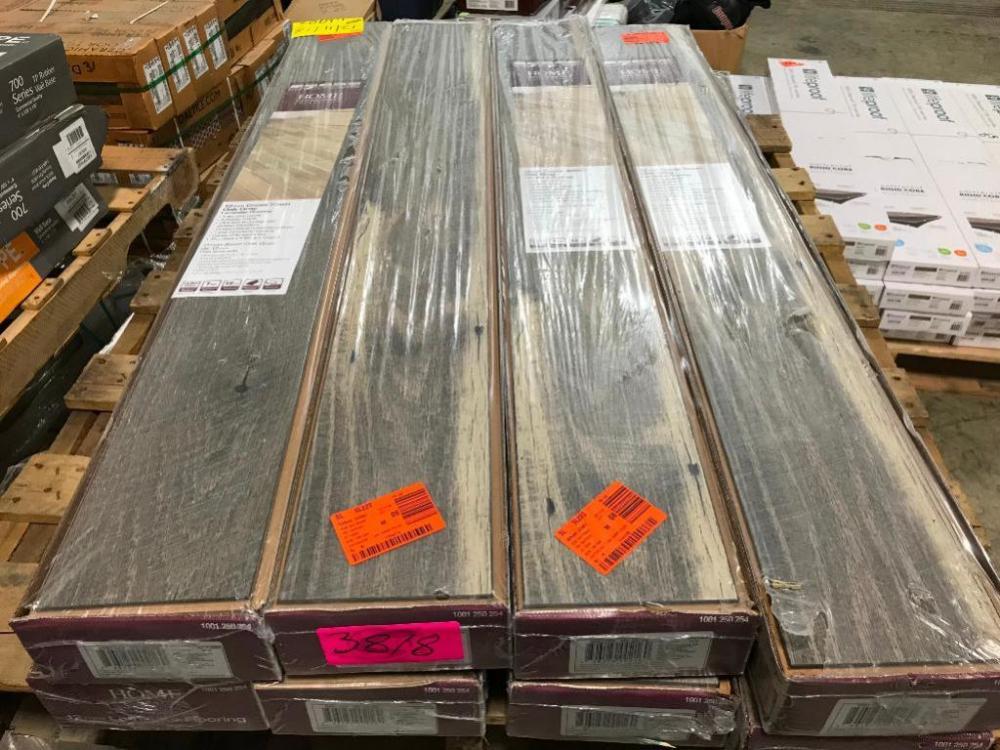 Approx 104 Sq Ft Cross Sawn Oak Gray Laminate Flooring